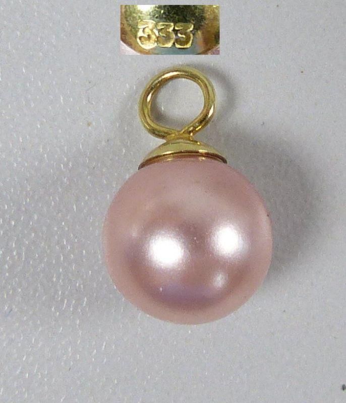 Wunderschöner Anhänger aus 333 Gold mit rosa Perle (da5359)
