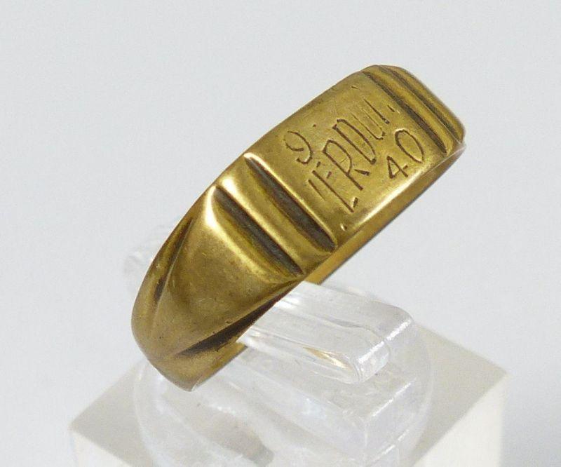 Original Alter Ring 1 Wk Aus Franz Münze Mit Gravur 9 Verdun 40 Da5355