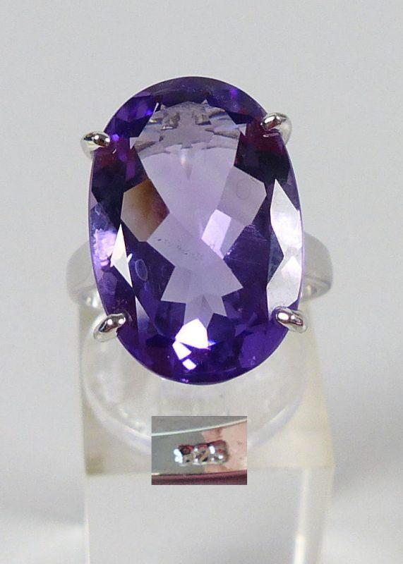 Ring aus 925er Silber mit Amethyst, Gr. 55/Ø 17,5 mm  (da4762)