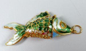 Wackelfisch emailliert als Anhänger  (da5306)