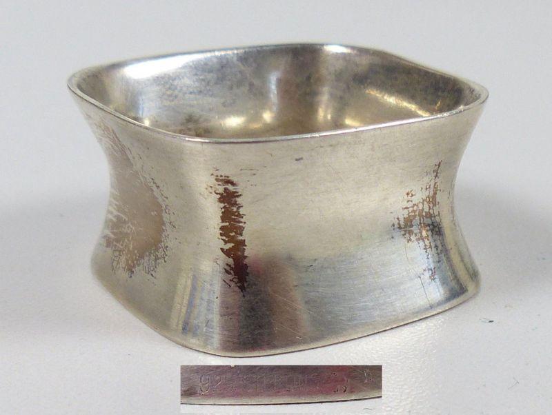 Obligatorisch Schöner Serviettenring Blumen Dekor Silber 800 Punziert Silber Serviettenringe & -halter