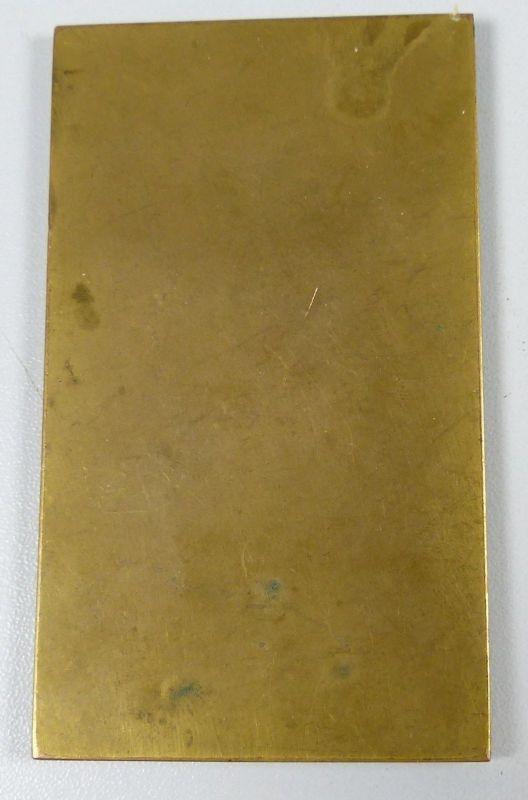 Bronzeplakette, Kriegsmässige Ballonverfolkgung Mainz Juni 1914, selten (da5269) 1