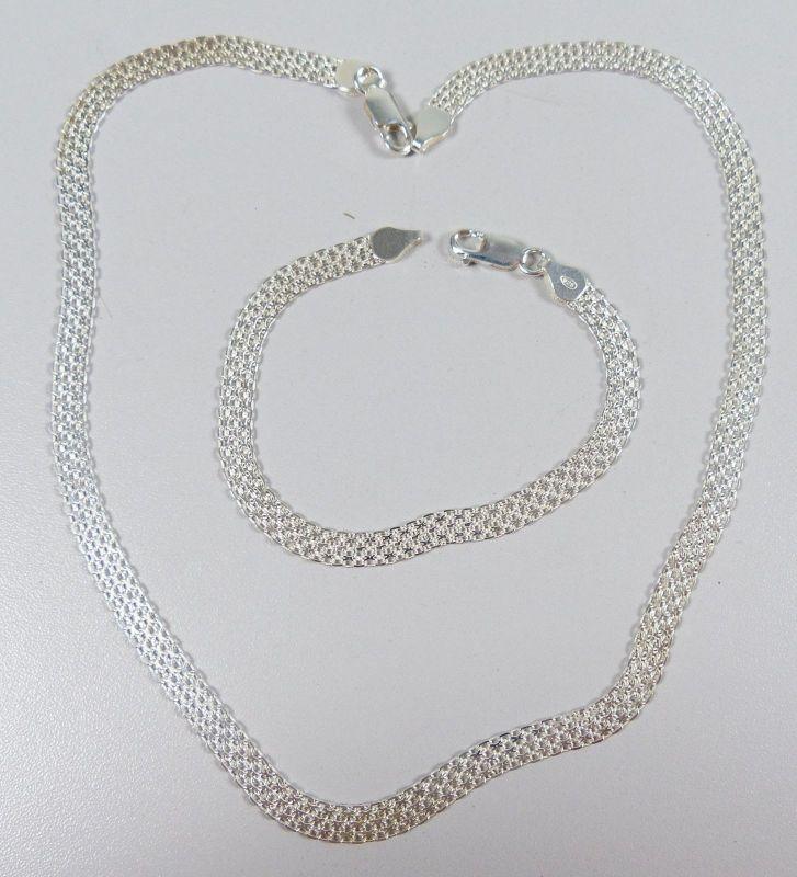 Set Kette und Armband aus 925er Silber   (da5251)