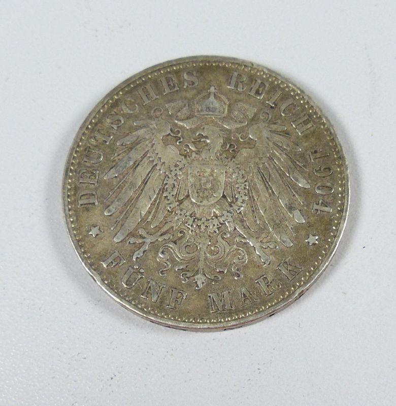 5 Mark 1904a Wilhelm Ii Deutscher Kaiser König V Preussen