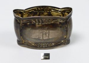 Serviettenring aus 800er Silber mit Monogramm HH (da5399)