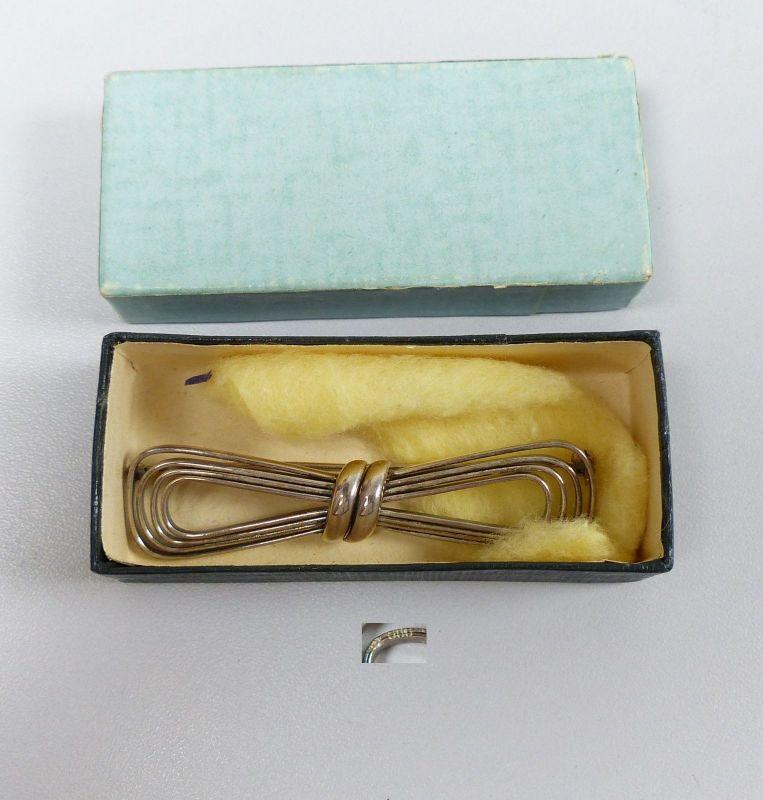 Tolle alte Brosche aus 800 Silber signiert in original Schachtel   (da5403)