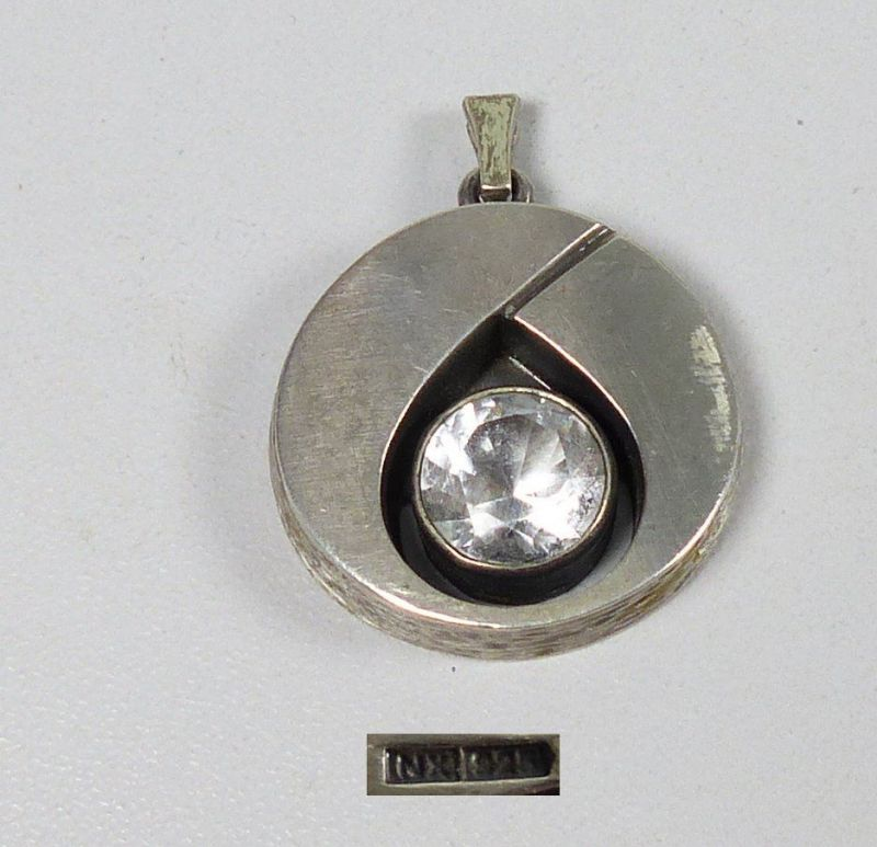 Anhänger aus 925 Silber signiert mit Bergkristall sehr schön     (da5257)