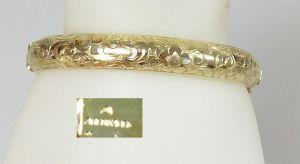 Toller alter Armreif vergoldet Amerika Doublé         (da5400)