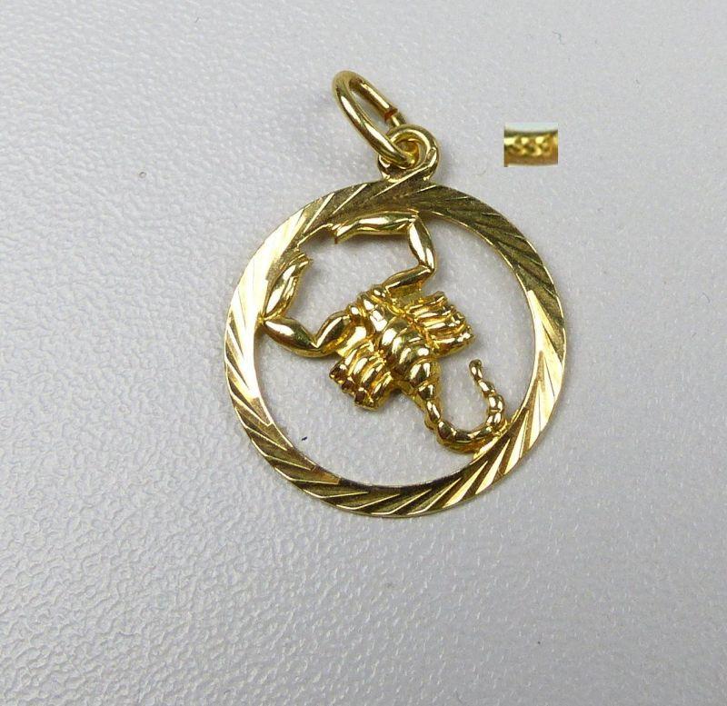 Sternzeichen Krebs Anhänger aus 333er Gold                   (da4744)
