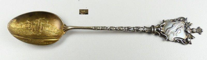 Wappen-Löffel Bad Schwalbach aus 800 Silber (da4638)