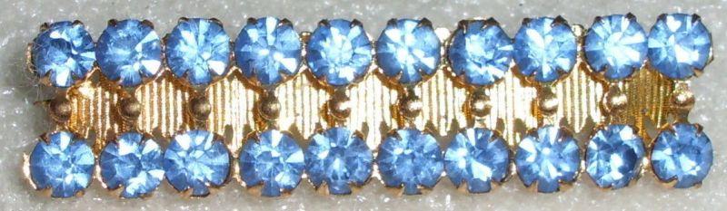 Brosche Modeschmuck wohl 20iger Jahre mit aquamarinfarbenen Steinen   (da2020)