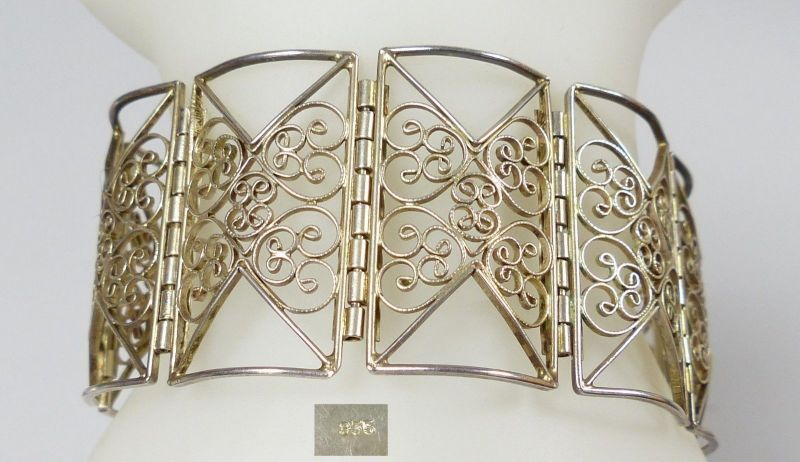 Sehr feines filigranes Armband aus 835er Silber   (da5440)