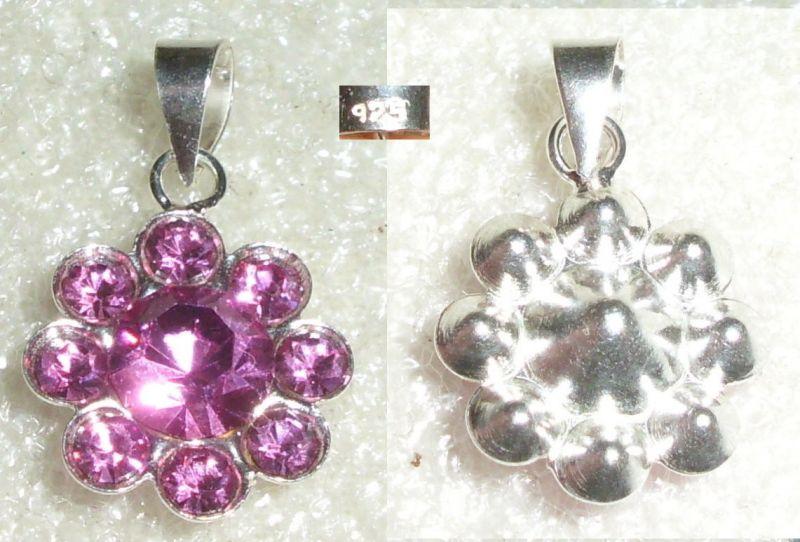 Toller Anhänger aus 925er Silber mit Swarowski Kristallen NEU (da4044)