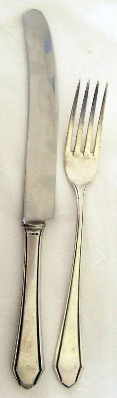 1 Personen Besteck aus 800 Silber Art Deco, Görlitz    (ja187)