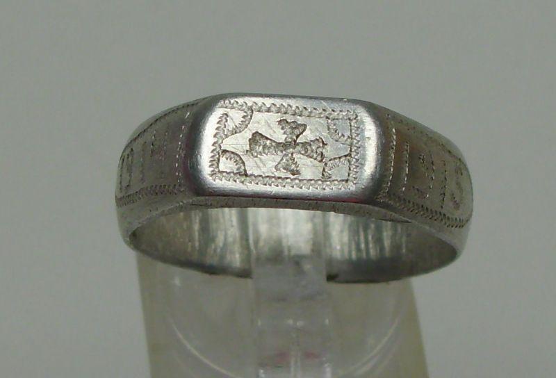 Patriotischer Ring 1. WK, Grabenarbeit 1914/15 m. EK, Gr. 63/Ø 20,1 mm  (da4450)