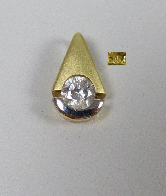 Wunderschöner Anhänger aus 585er Gold mit Zirkonia   (da5062)