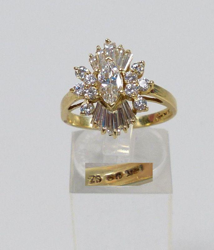 Ring 585 Gold mit Zirkone        (c4660)