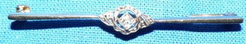 Hübsche kleine Diamant-Brosche 585 Gold 0,05 ct.   (c1134)