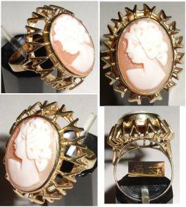 Ring 333 Gold mit Gemme      (c5710)