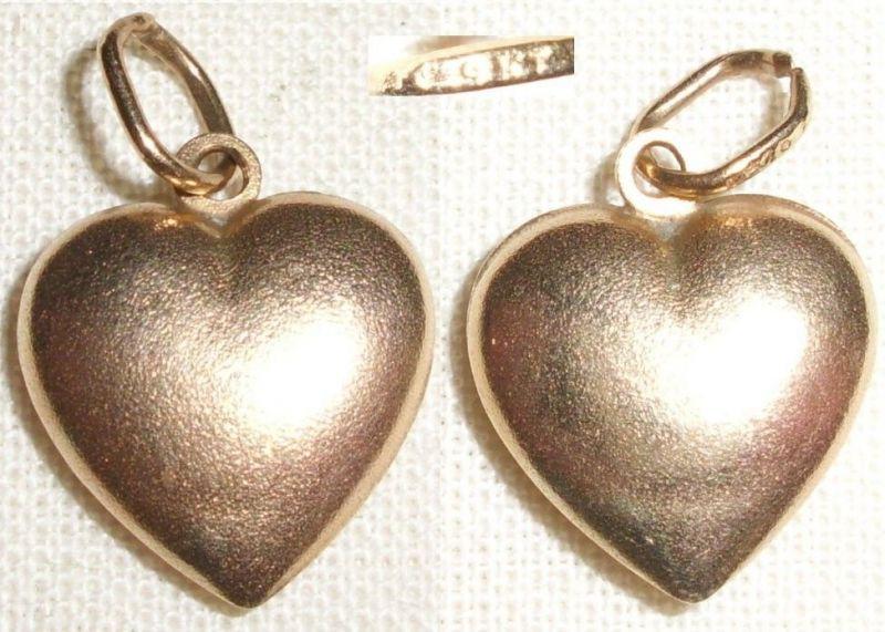 Anhänger Herz aus 375 Gold 9 KT.     (C6830)
