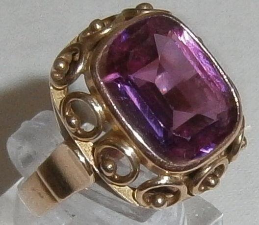 Ring 585 Gold mit wunderschönem Amethyst, Gr. 57 (c9312)