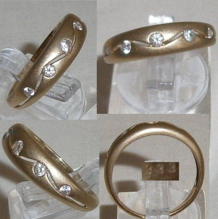 Ring 335 Gold mit Zirkone, Gr. 56   (c8242)
