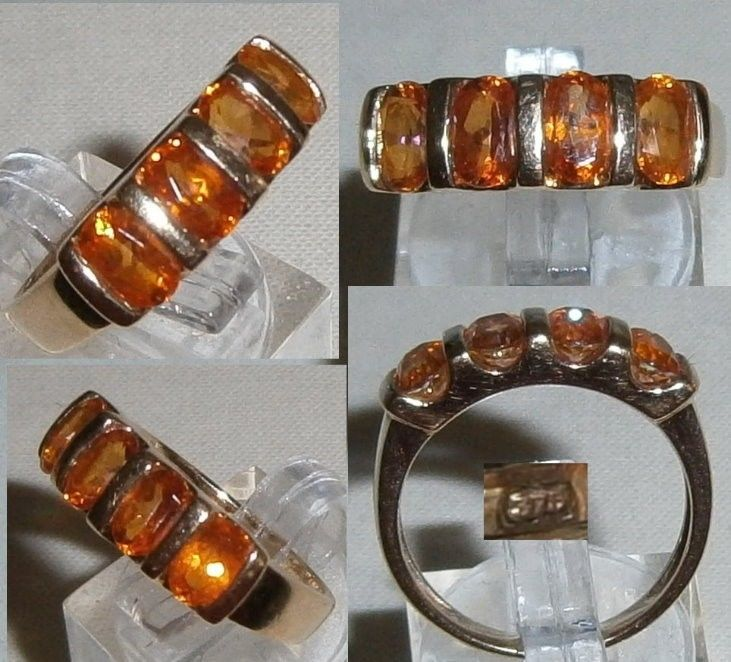Ring 375 Gold mit Citrine, Gr. 56    (c8194)
