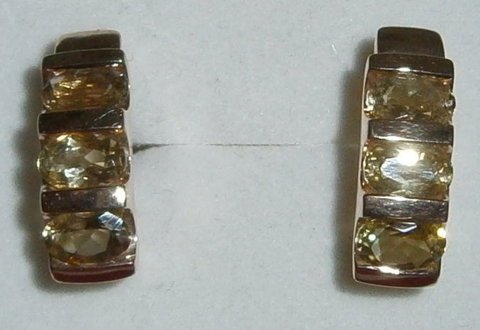 Ohrringe 375 Gold mit Citrine   (c8182)
