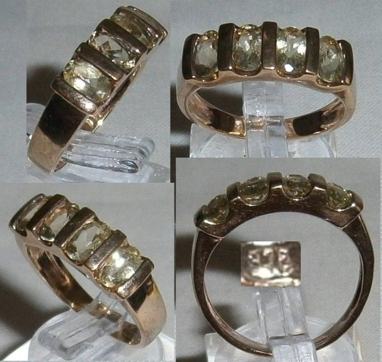 Ring 375 Gold mit Citrin, Gr.    (c8180)