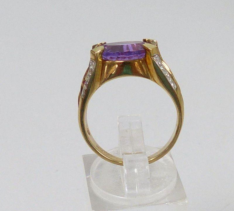 Ring 375 Gold mit Amethyst, Gr. 57  (c7554) 3