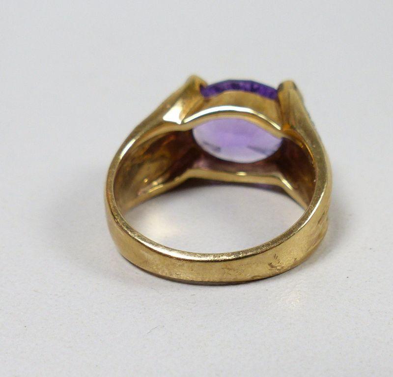 Ring 375 Gold mit Amethyst, Gr. 57  (c7554) 4