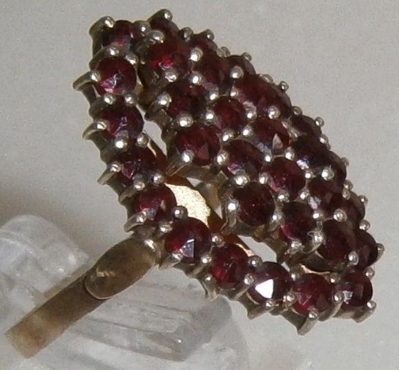Ring Gr. 59 aus 900 Silber vergoldet mit Granate  (da5483)