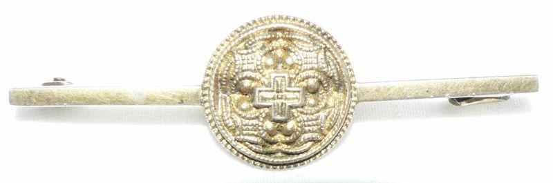 Hiddenseeschmuck orginal alte Brosche 800er Silber vergoldet Thorhammer (da4311)