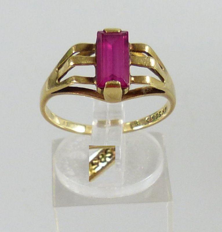 Ring aus 585er Gold mit Amethyst, Gr. 60/Ø 19,1 mm  (da5485)