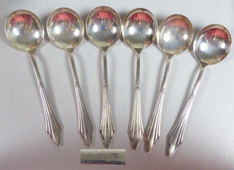WMF Fächermuster Spargelheber Silberauflage   (da5506)