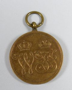 original alte Medaille Unseren tapferen Kriegern 1864    (da5512)