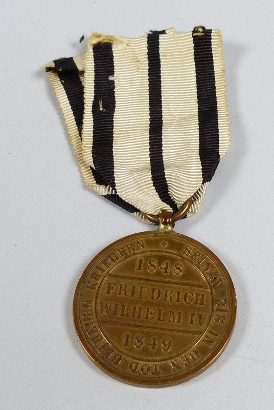 Medaille vom Fels zum Meer der Hohenzollern 1848  1849 am Originalband (da5531)