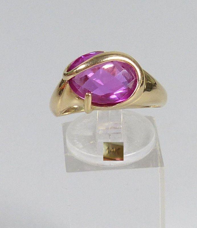 Ring aus 585 Gold mit Amethyst, Gr. 62/Ø 19,7 mm  (da5559)