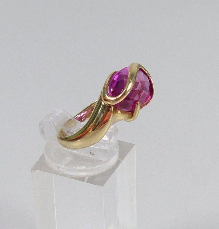 Ring aus 585 Gold mit Amethyst, Gr. 62/Ø 19,7 mm  (da5559) 1
