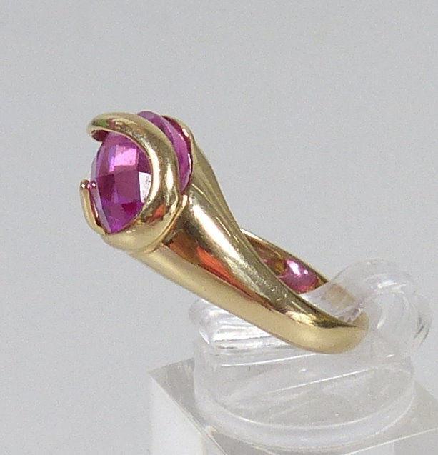 Ring aus 585 Gold mit Amethyst, Gr. 62/Ø 19,7 mm  (da5559) 2