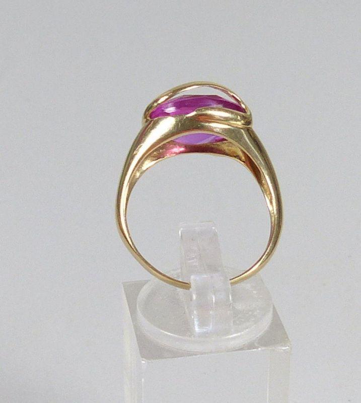 Ring aus 585 Gold mit Amethyst, Gr. 62/Ø 19,7 mm  (da5559) 3