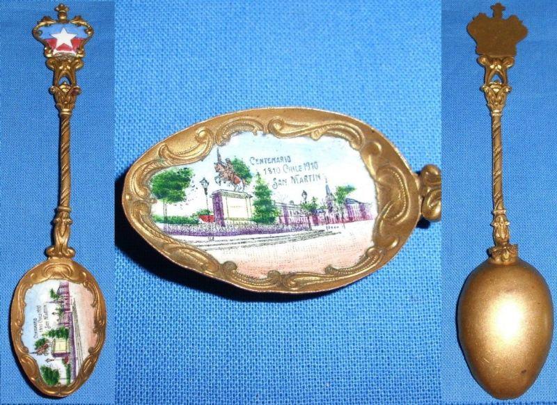 original alter Sammler-Löffel Chile