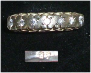 Ring aus 925er Silber mit weißen Stein,  Gr. 55, Ø 17,5 mm  (da3693)