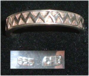 Ring aus 925er Silber,  Gr. 58, Ø 18,5 mm  (da3691)