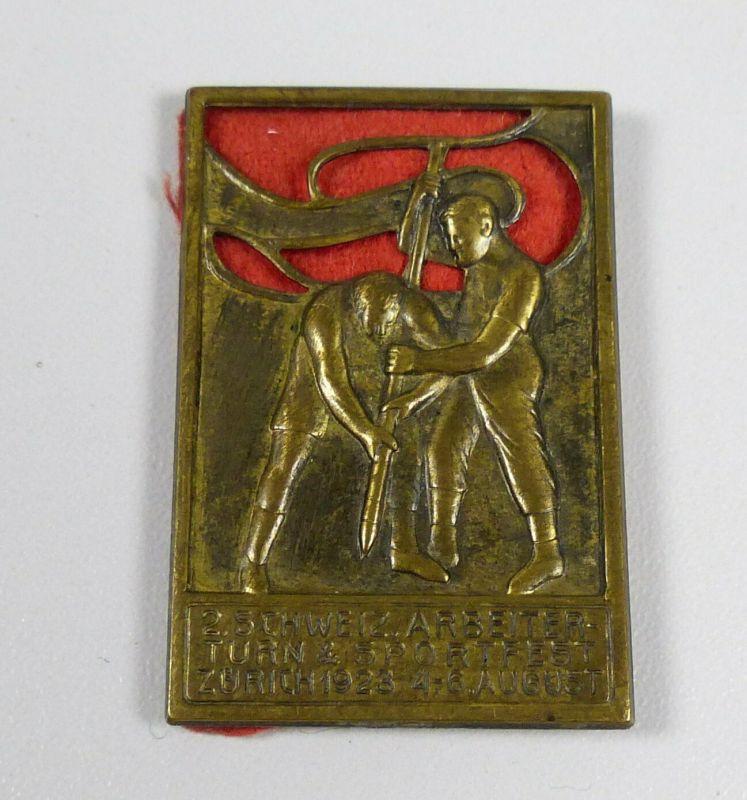 Original altes Abzeichen 2. Schweiz Arbeiter Turn u. Sportfest (da5571)