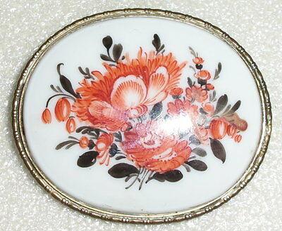 Große sehr feine Rosenthal-Brosche mit Blumen  (d9018)