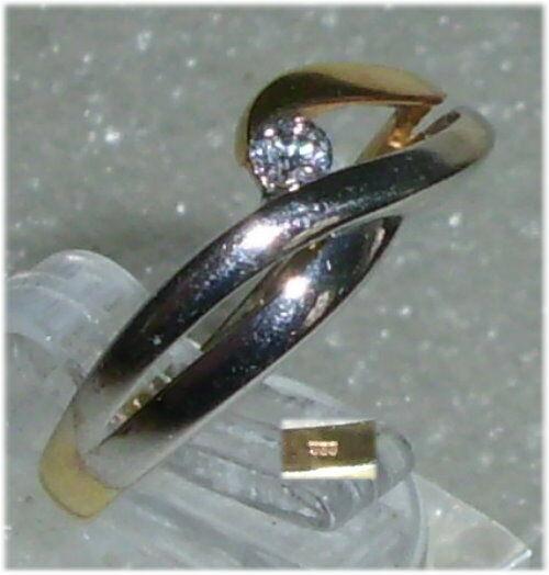 Ring aus 333er Gold mit Zirkonia  Gr. 59 Ø 18,8 mm  neuwertig (da3283)