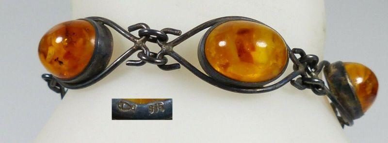 Armband aus 835 Silber mit Bernstein/Amber Fischland  (da5583)