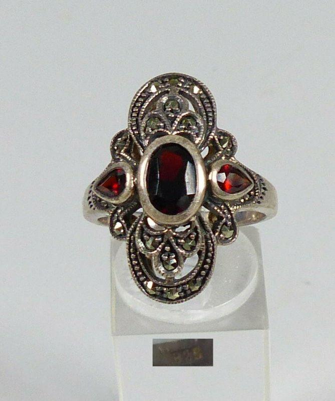 Ring aus 925 Silber mit Granate, Gr. 62 /Ø 19,7 mm  (da5581)