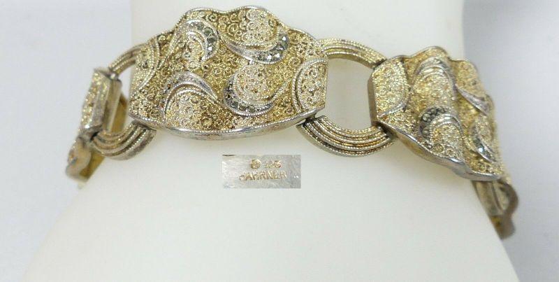 Theodor Fahrner Armband mit Markasiten 925 Silber             (c4324)